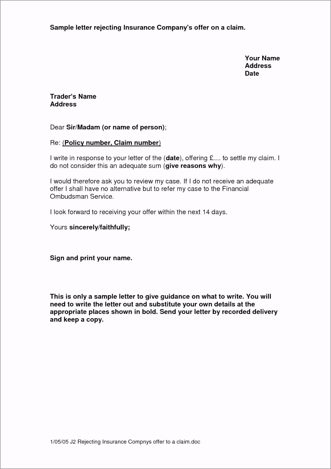 appeal letter template medical new gallery title insurance claim of insurance demand letter template oeeww