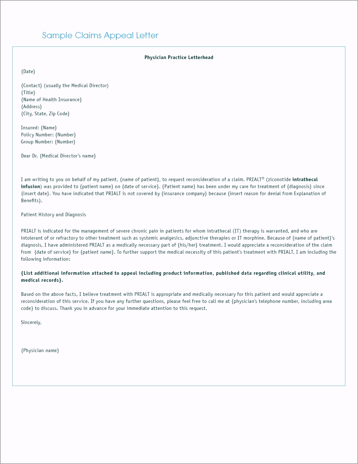 letter format for medical insurance claim refrence letter insurance of medical claim appeal letter template yitto