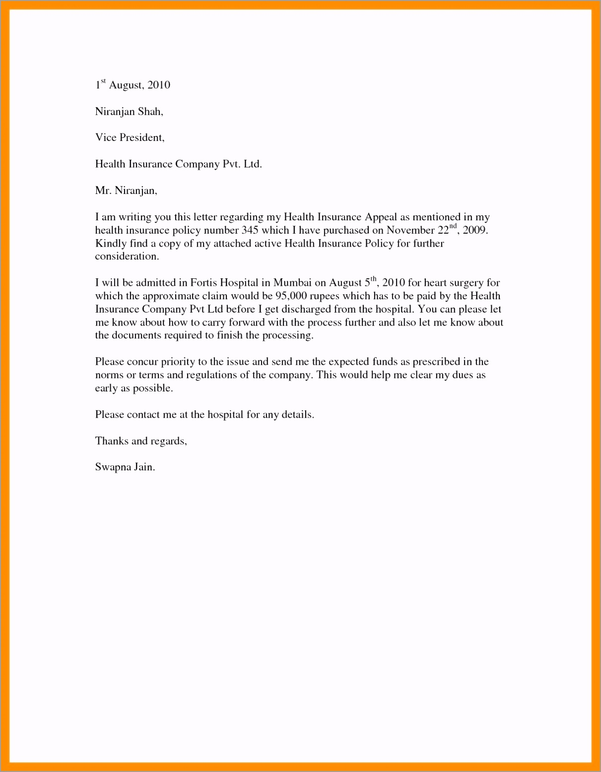 letter insurance template 015 template ideas insurance denial letter for ppi rejection valid appeal example impressive free cover aptty