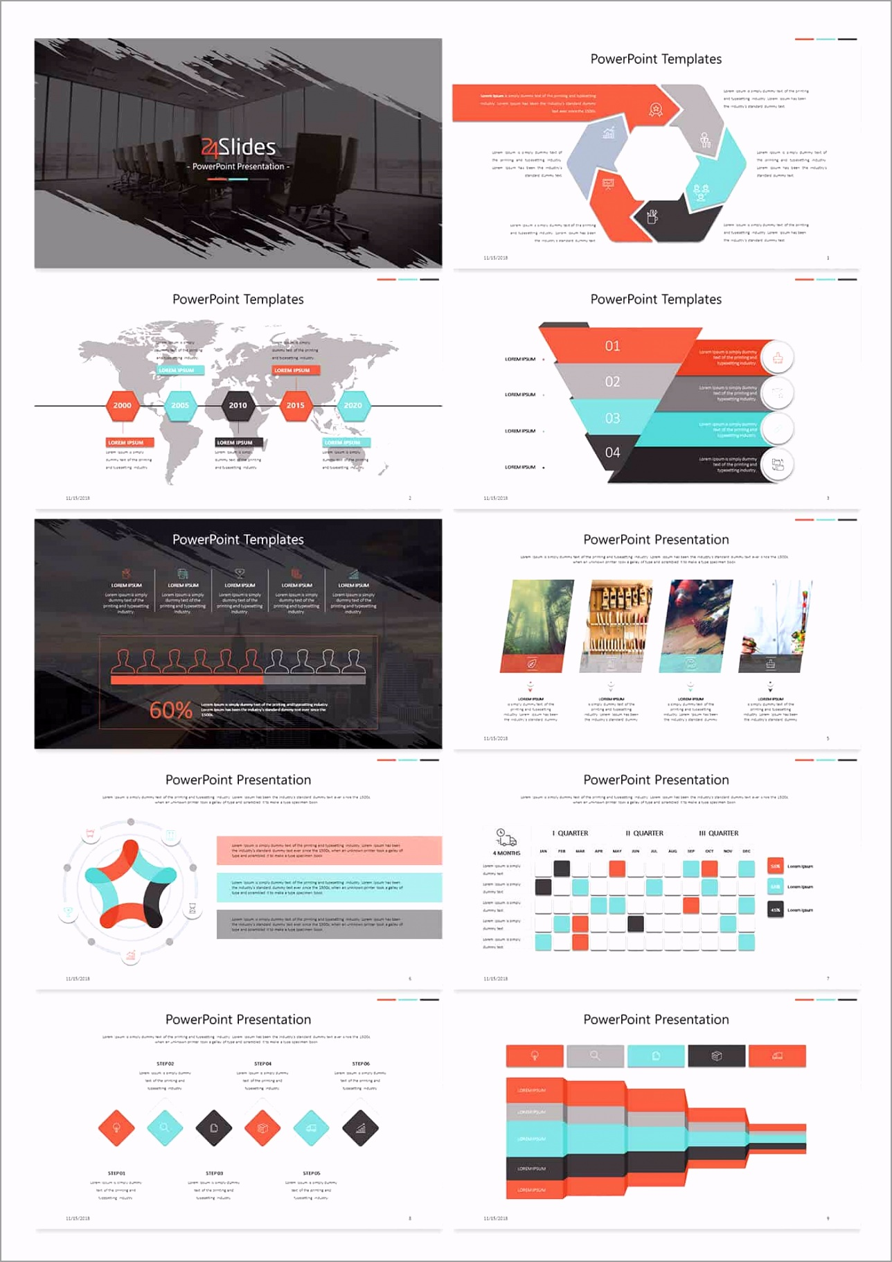 5 26 Slide Corporate Template Pack from 24Slides wupti