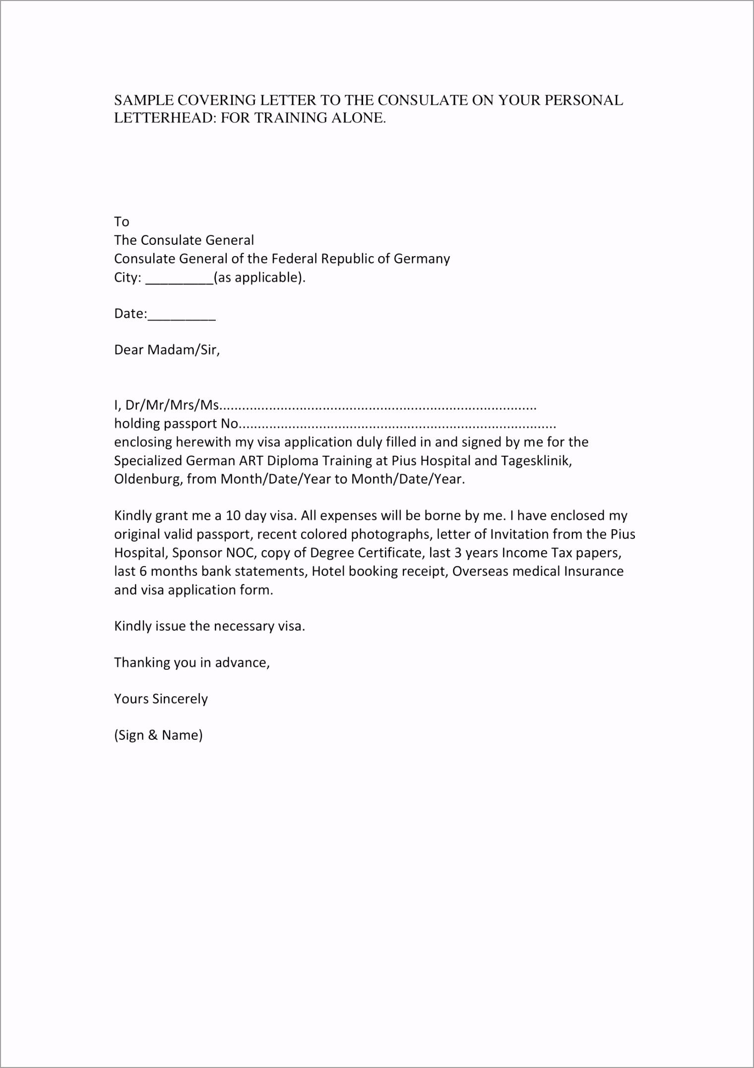 Visa Application Cover Letter Sample 1 ttueb