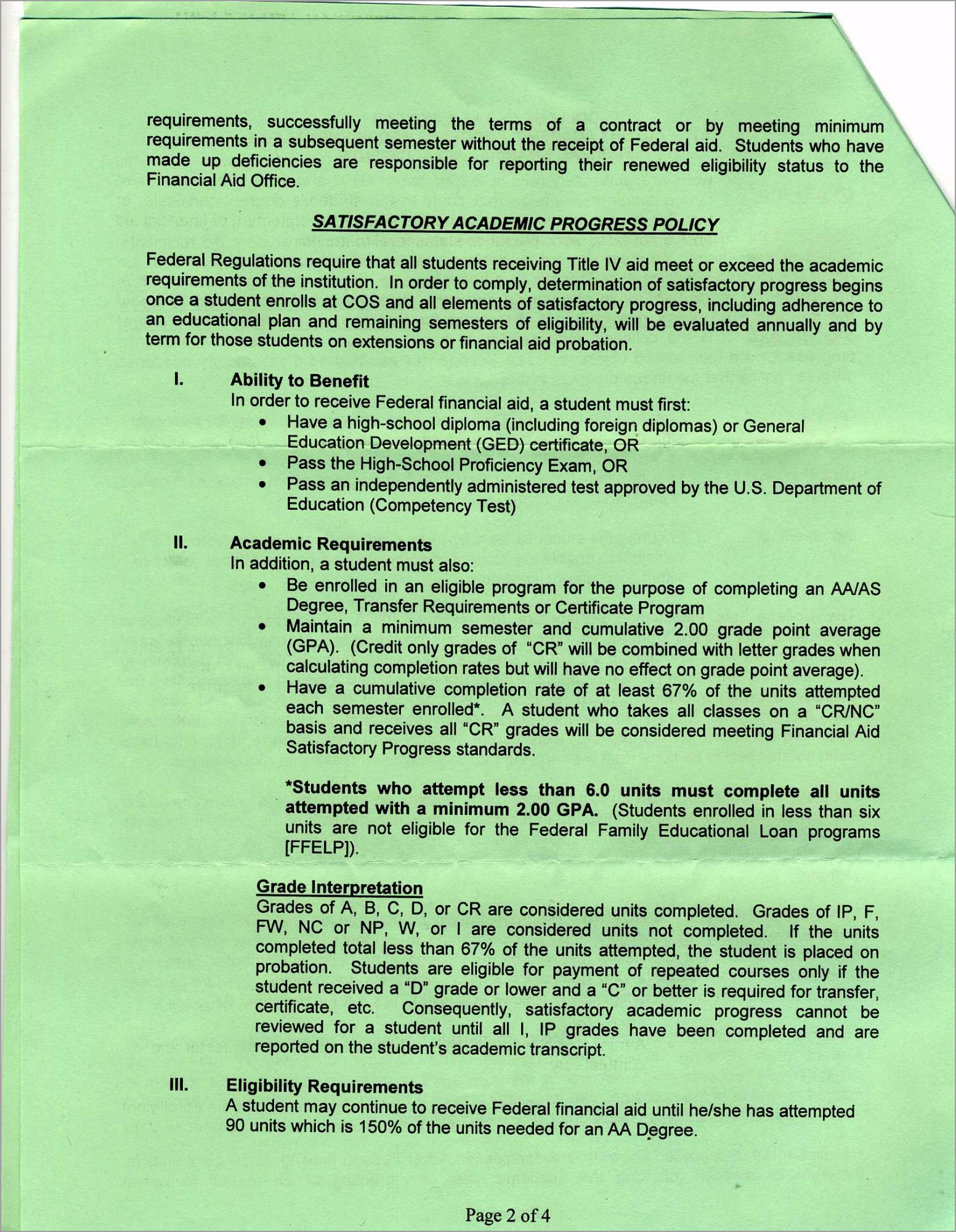 satisfactory academic progress requirements02 ipeaa