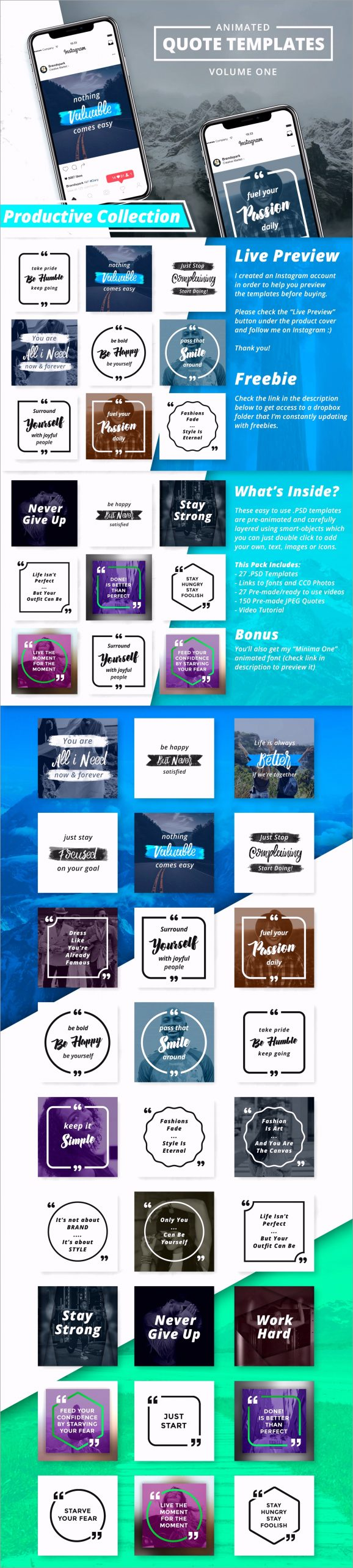 1 cover animated instagram quotes social media motivation inspiration inspirational motivational photoshop freebie free twaat
