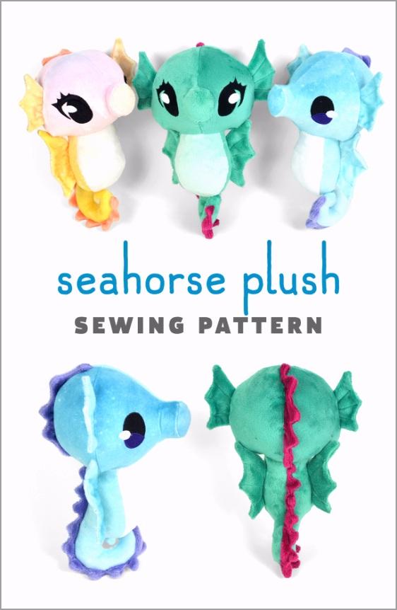 seahorse plush sewing pattern rfilt