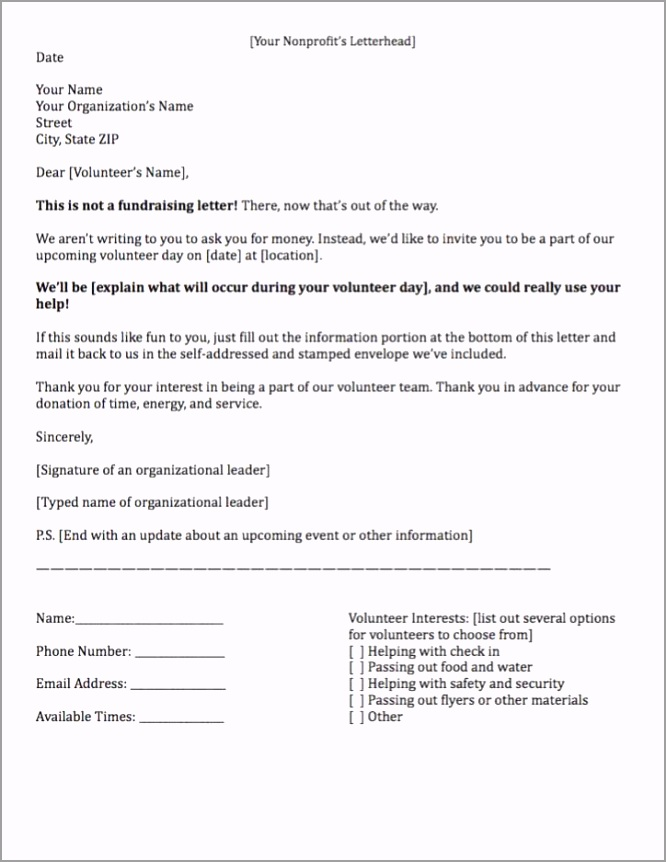 Fundraising letter requesting volunteer time eoeia