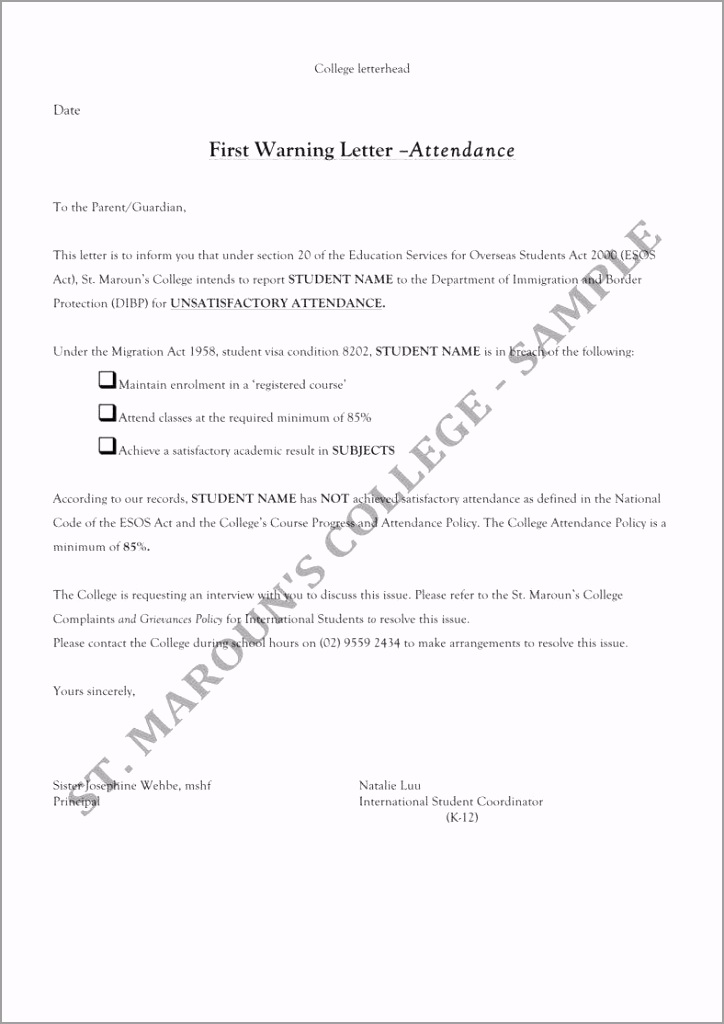 Student First Warning Letter 1 788x1114 wutta