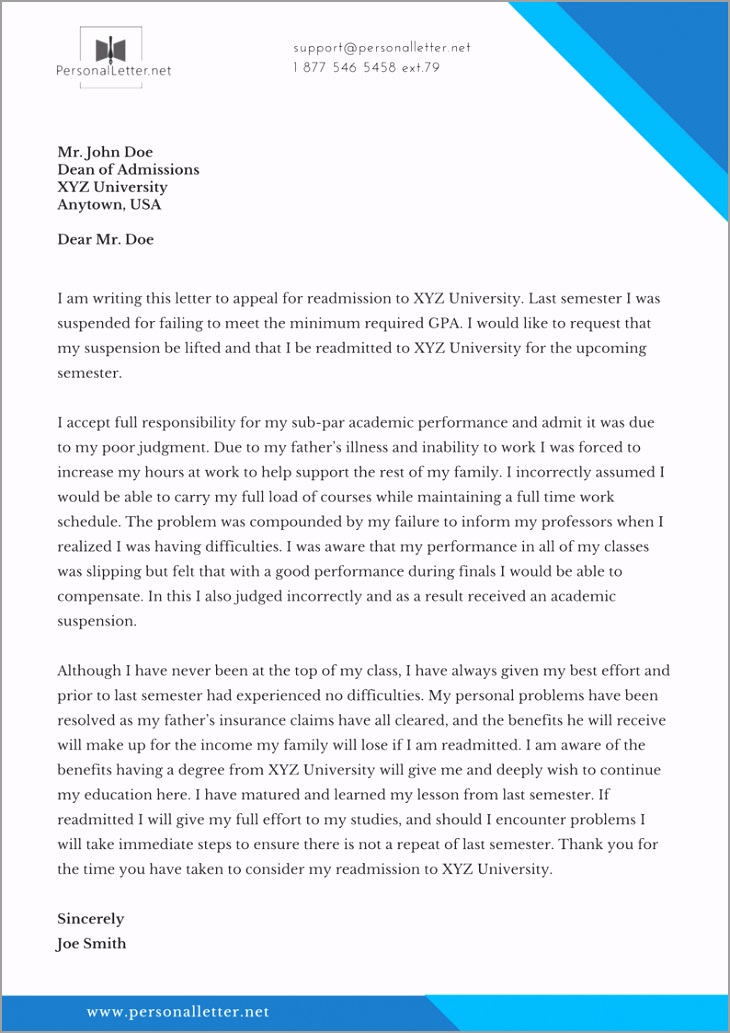 66 free example letter of appeal to iygaa