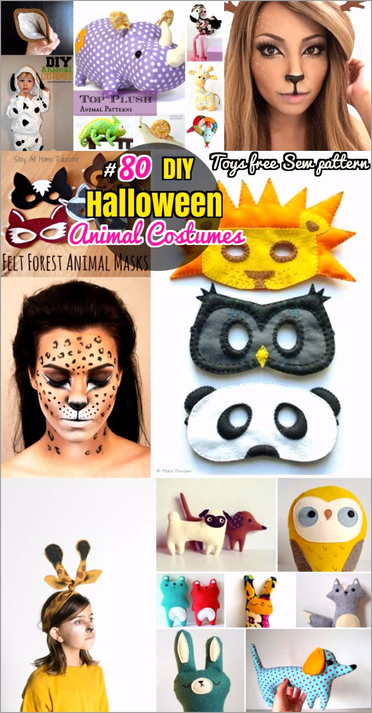 DIY Halloween Animal costumes and Soft Toys Sew Patterns errvy