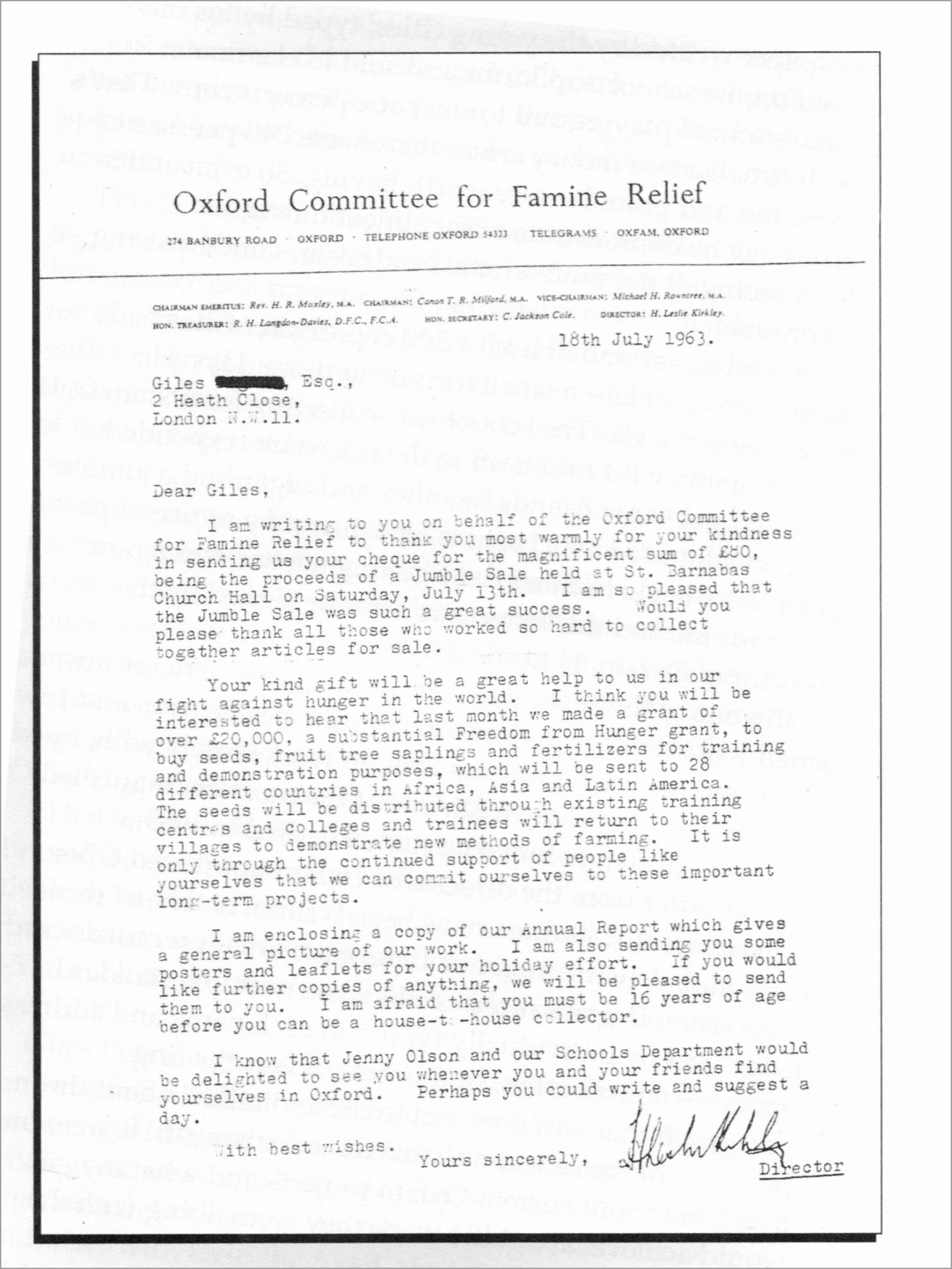 oxfam letter aipio