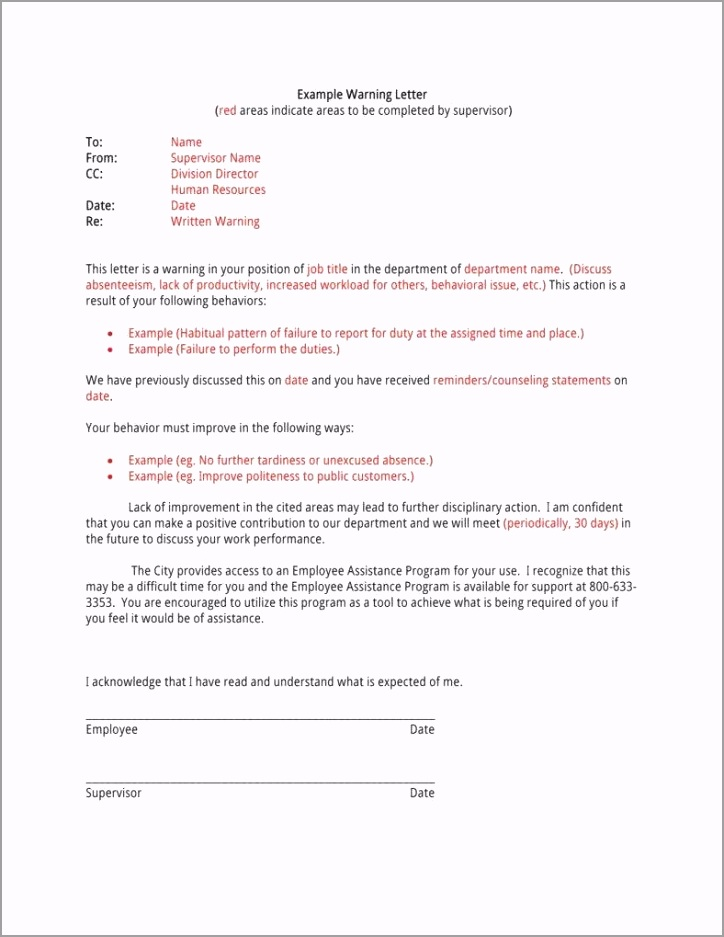 Warning Letter Template PDF 11 788x1019 ieduy