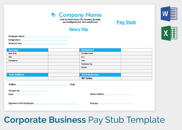 Monthly Salary Slip Format Free Download Printable Year Calendar