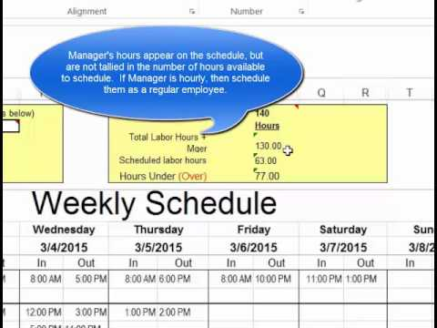 Make Employee Schedules in Microsoft Excel - YouTube