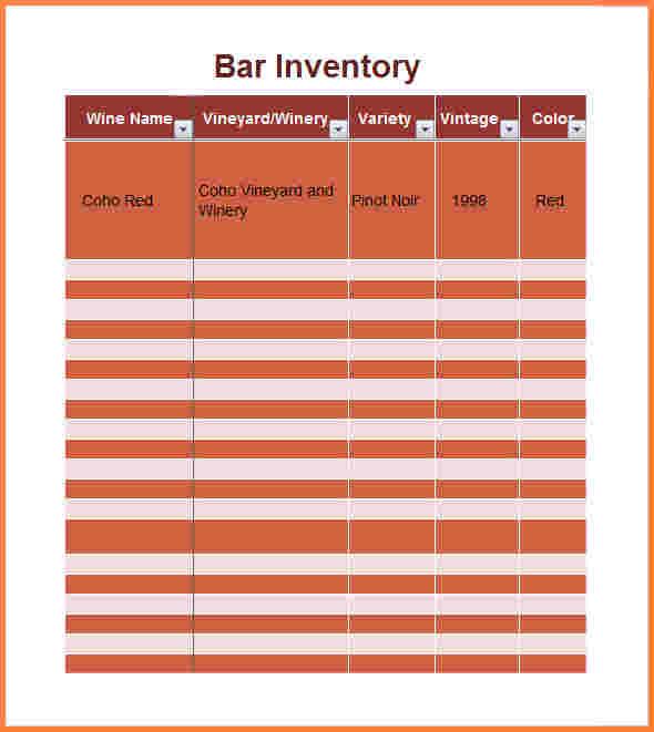 10+ sample bar inventory spreadsheet   Excel Spreadsheets ...