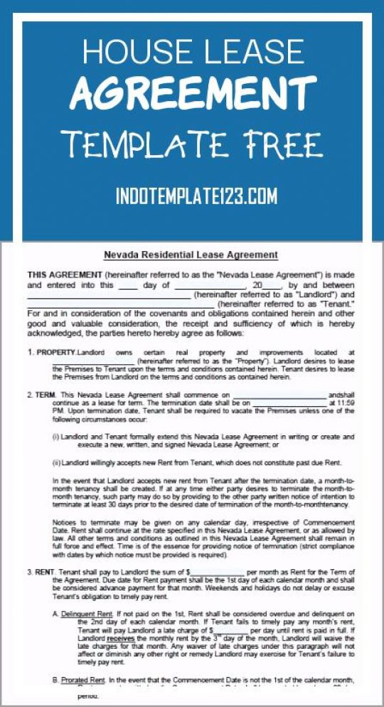 Permalink to House Lease Agreement Template Free