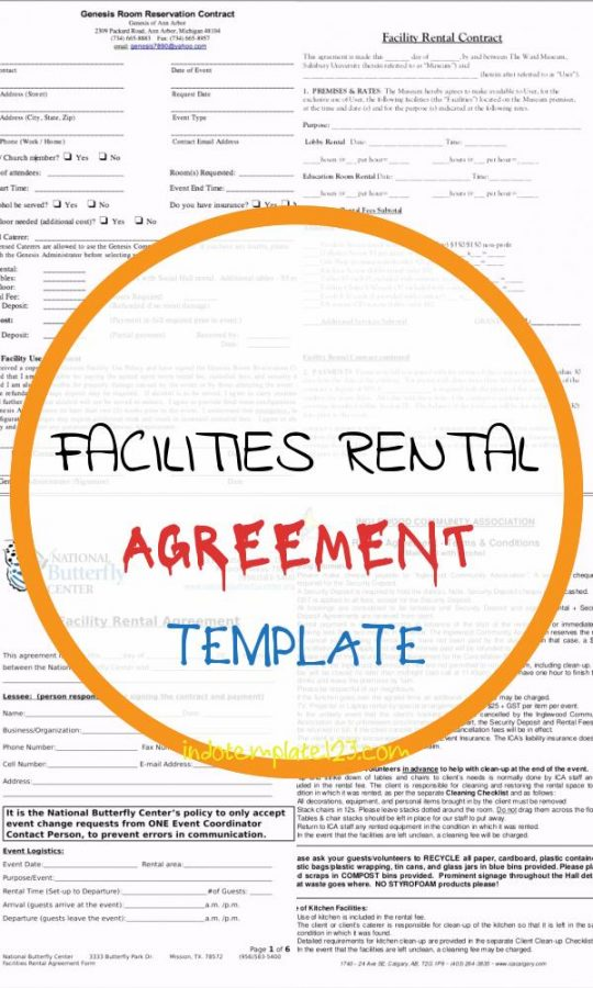 Permalink to Facilities Rental Agreement Template