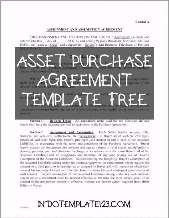 Permalink to Asset Purchase Agreement Template Free