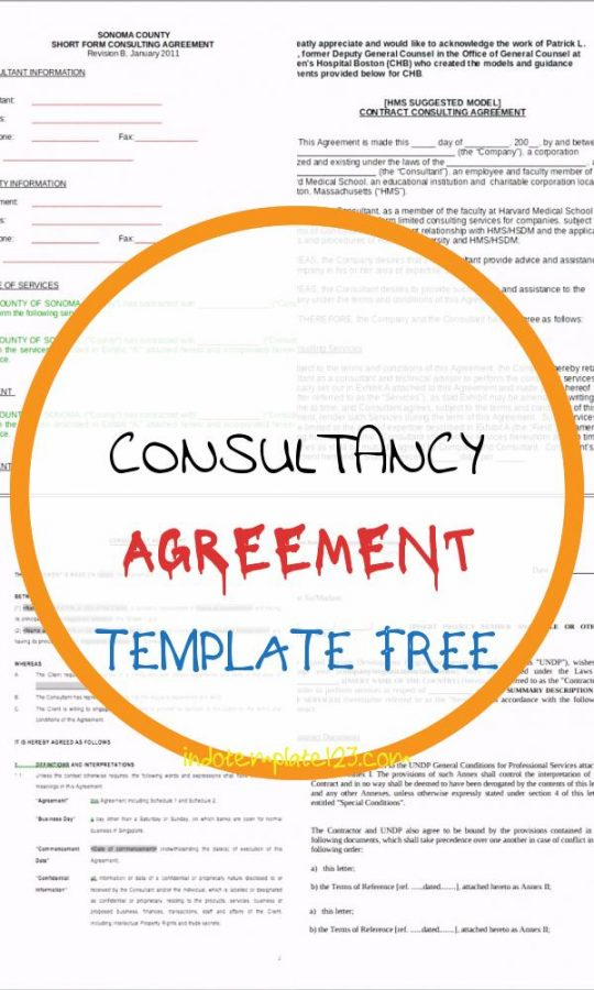 Permalink to Consultancy Agreement Template Free