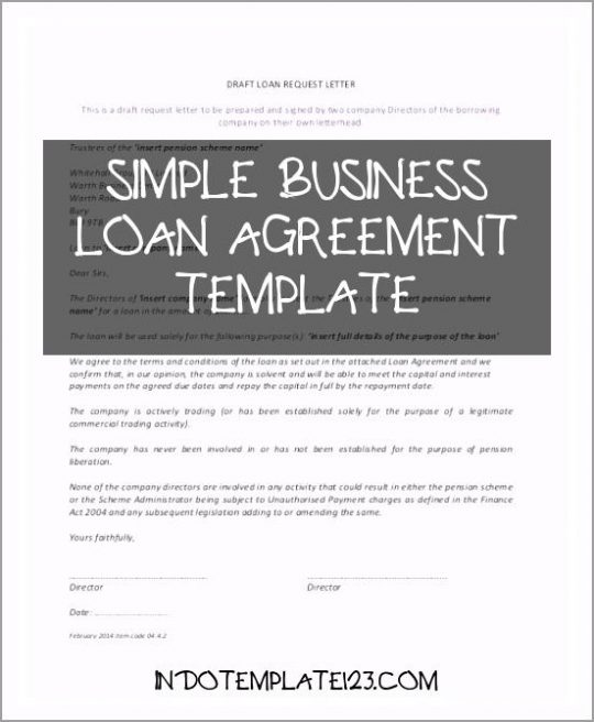 Permalink to Simple Business Loan Agreement Template