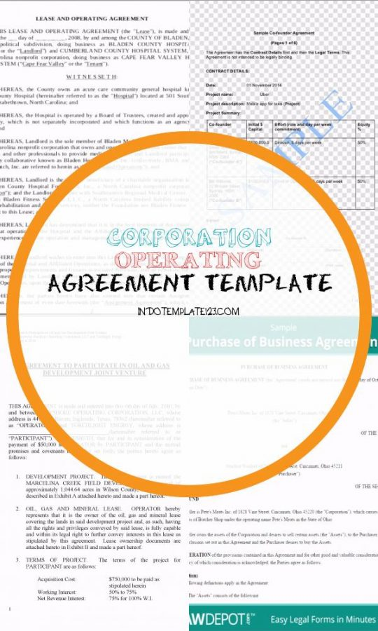 Permalink to Corporation Operating Agreement Template