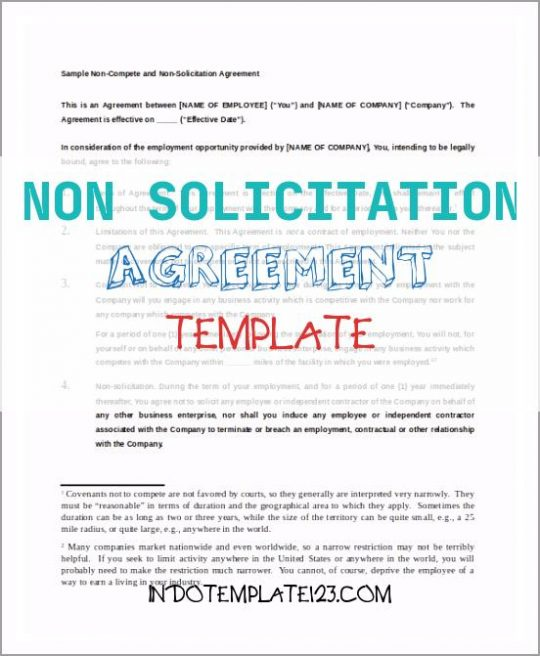 Permalink to Non solicitation Agreement Template