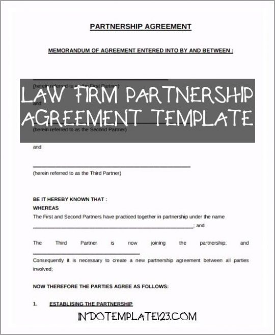 Permalink to Law Firm Partnership Agreement Template