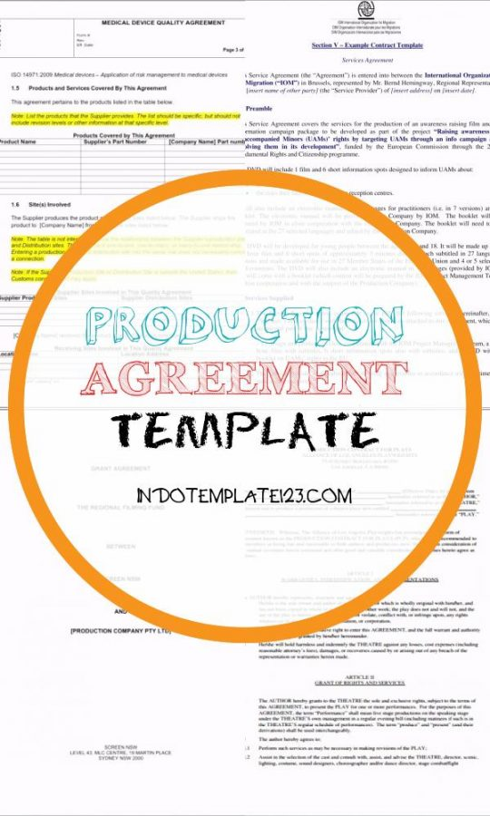 Permalink to Production Agreement Template