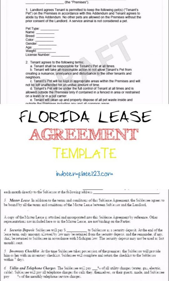 Permalink to Florida Lease Agreement Template