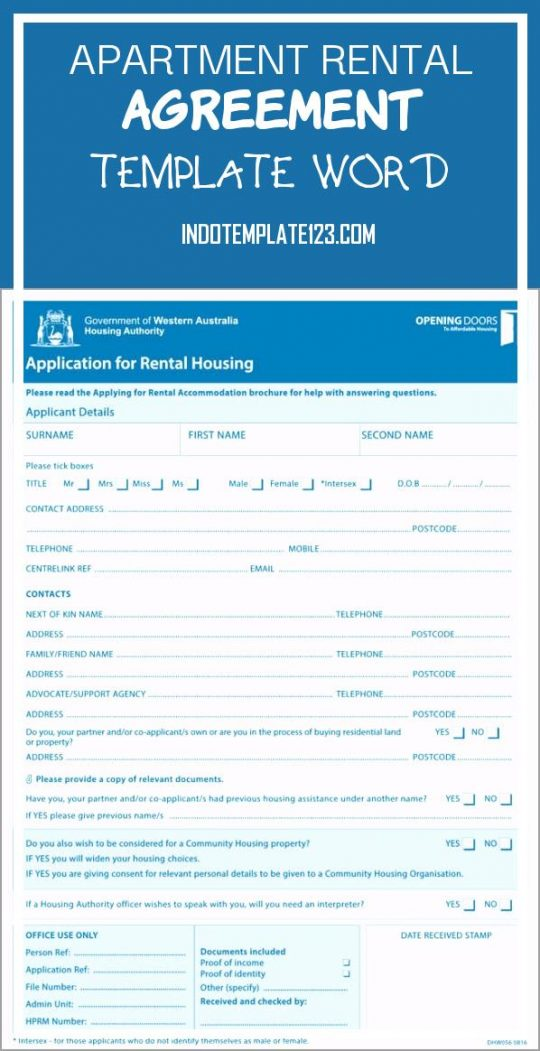 Permalink to Apartment Rental Agreement Template Word