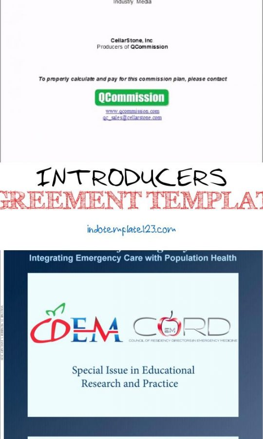 Permalink to Introducers Agreement Template
