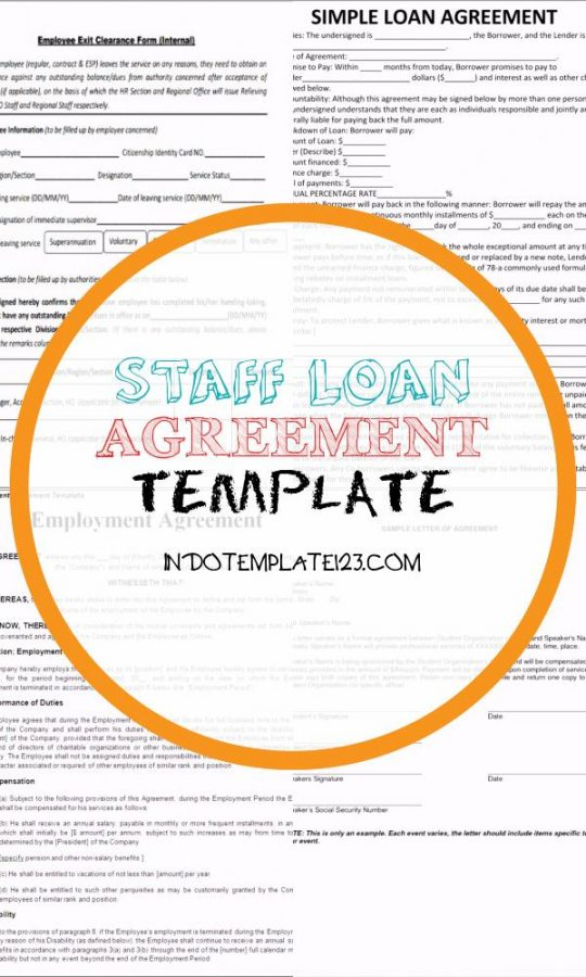 Permalink to Staff Loan Agreement Template