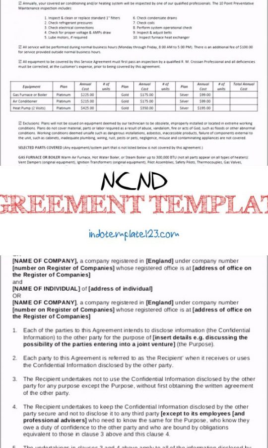 Permalink to Ncnd Agreement Template