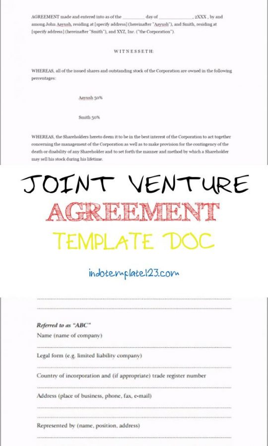 Permalink to Joint Venture Agreement Template Doc