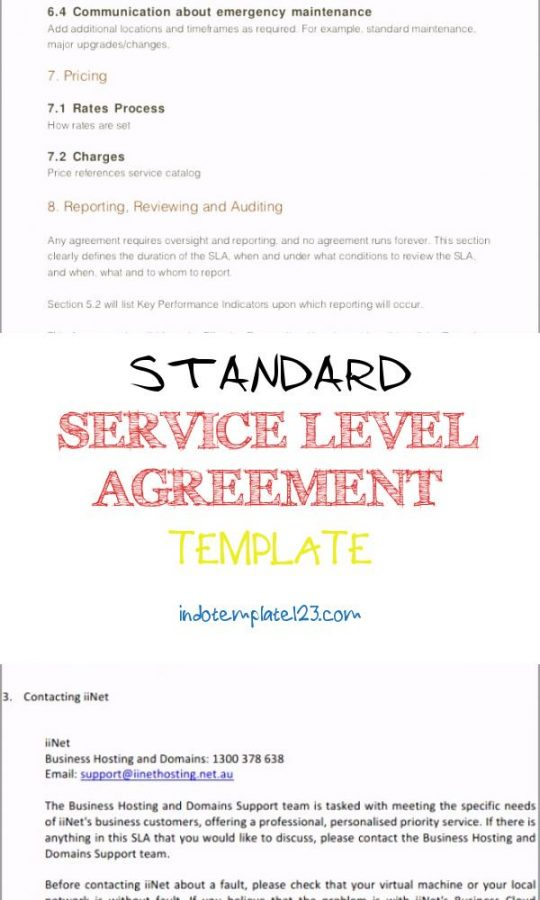 Permalink to Standard Service Level Agreement Template