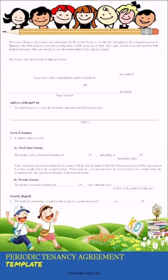 Permalink to Periodic Tenancy Agreement Template