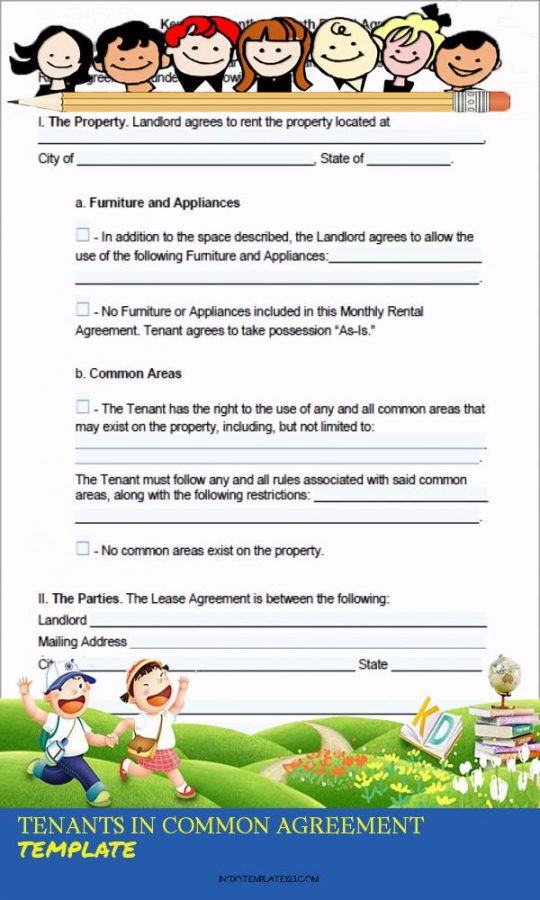 Permalink to Tenants In Common Agreement Template